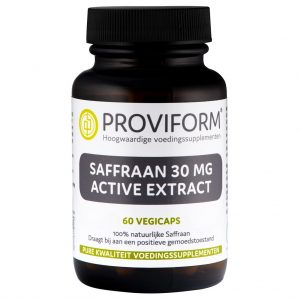 Proviform Saffraan 30mg Active Extract Vegicaps