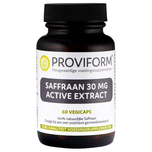 Proviform Saffraan 30mg Active Extract Vegicaps
