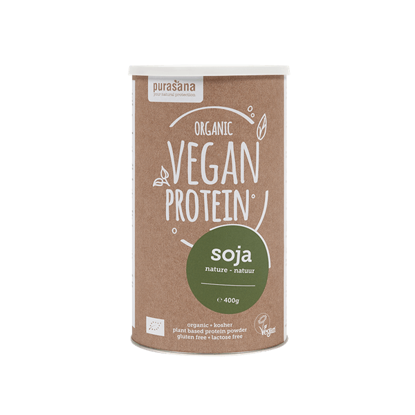 Purasana Vegan Protein Poeder Mix Soja Natuur
