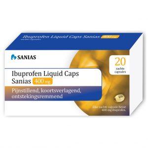 Sanias Ibuprofen Liquid Caps 400mg