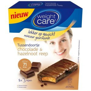 Weight Care Chocolade & Hazelnoot Reep