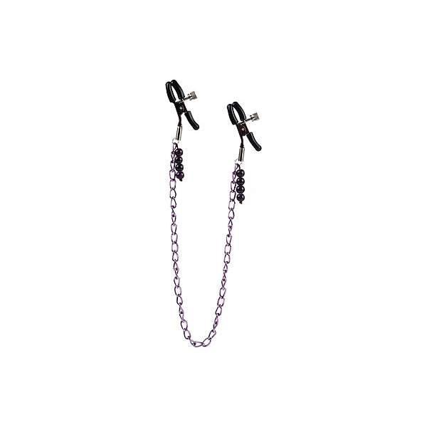 California Exotic Novelties Chain Nipple Clamps Purple