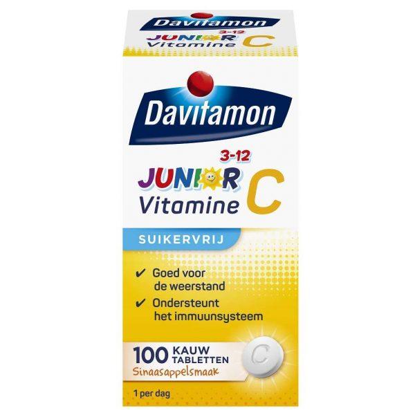 Davitamon Junior 3-12 Vitamine C Kauwtabletten Sinaasappel