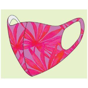 DeOnlineDrogist.nl Mondkapje Roze Bloem One Size - Uitwasbaar