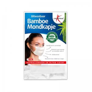 Lucovitaal Bamboe Mondkapje - Uitwasbaar