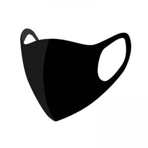 Mondkapje Zwart One Size
