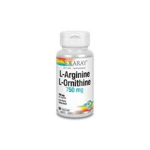 Solaray L-Arginine L-Ornithine 750 mg 50vc
