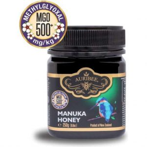 100% Pure Manuka Honing Auribee MGO 500+ uit Nieuw-Zeeland (250 gram)
