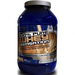 100% Whey Sensation Cappuccino  900 gr whey protein & Isolaat / eiwitshake