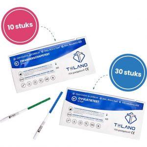 10x Zwangerschapstesten Gevoelig + 30x Ovulatietesten Gevoelig Strips - Dipstick - Telano - Voordeelpakket set - Pack