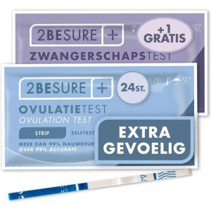 2-BeSure - Extra Gevoelige Ovulatietest - 24 Stuks - Extra GRATIS Zwangerschapstest