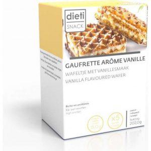 Dietisnack Vanille Wafel - 5 stuks - Snack