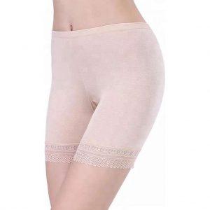 LOUZIR Dames Short Seamless -lange pijp -Basic  korte broek -Beige - Maat M