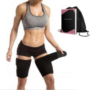 Zwarte afslankband inclusief sporttasje en Ebook-Afslankbroekje-One size-Zorgt voor strakke benen