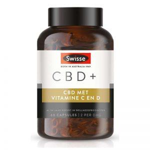 Swisse CBD+ Vitamine C en D Capsules