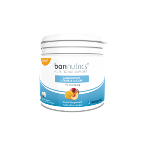 Metagenics Barinutrics Calciumcitraat + D & K2 Kauwtabletten