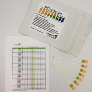100 pH-strips COMPLEET met persoonlijke pH-meetkaart & informatiekaart verzuring