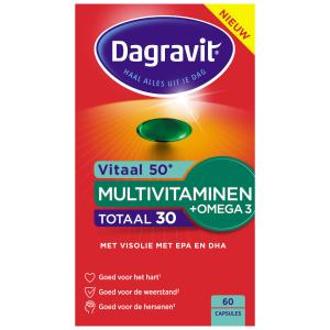Dagravit Totaal 30 50+ Multivitaminen + Omega 3 Tabletten